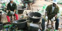 selection and processing of pet bottles