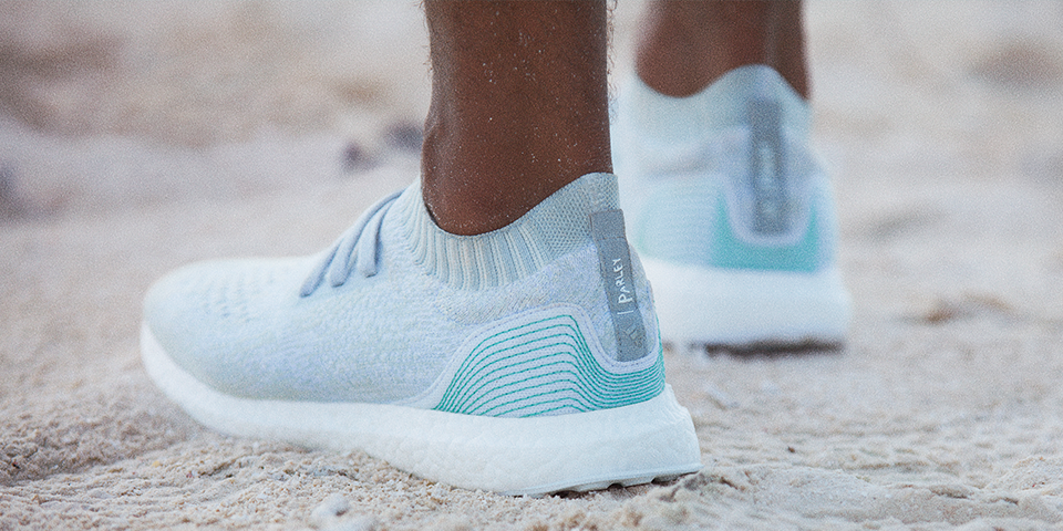 Shoe ,ade from recycled ocean plastics